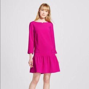 NWOT Victoria Beckham Pink Dropped Waist Dress